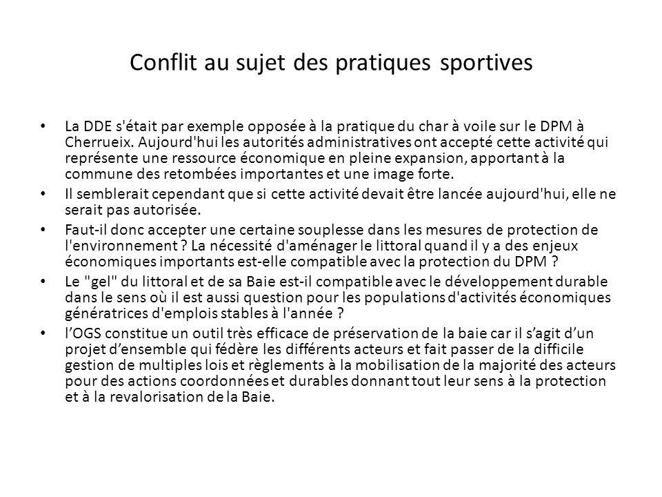 Conflit au sujet des pratiques sportives