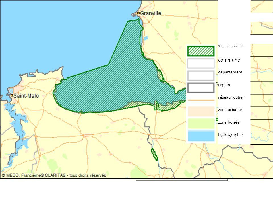 commune département région réseau routier zone urbaine zone boisée