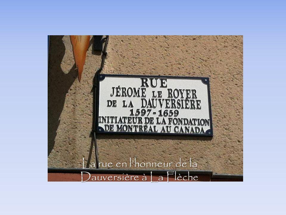 La rue en l'honneur de la Dauversière à La Flèche