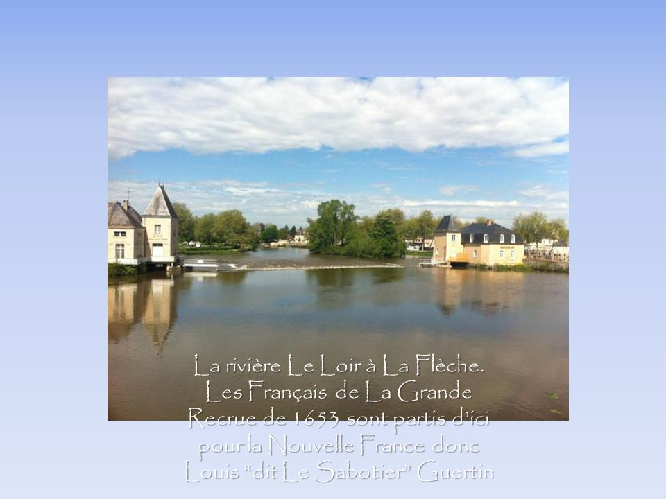 La rivière Le Loir à La Flèche