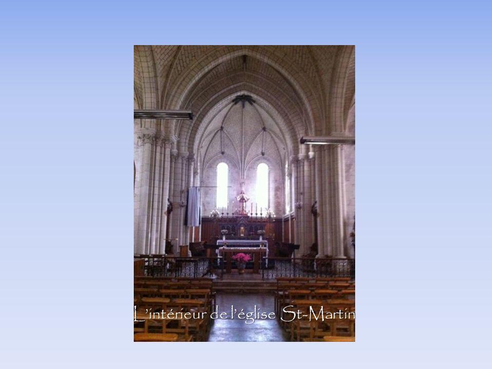 L'intérieur de l'église St-Martin