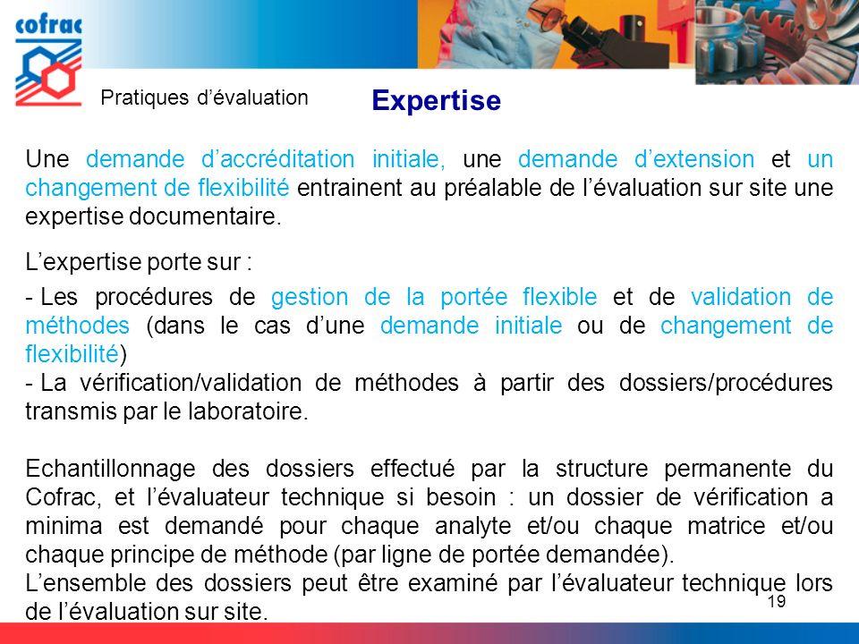 Expertise Pratiques d'évaluation.