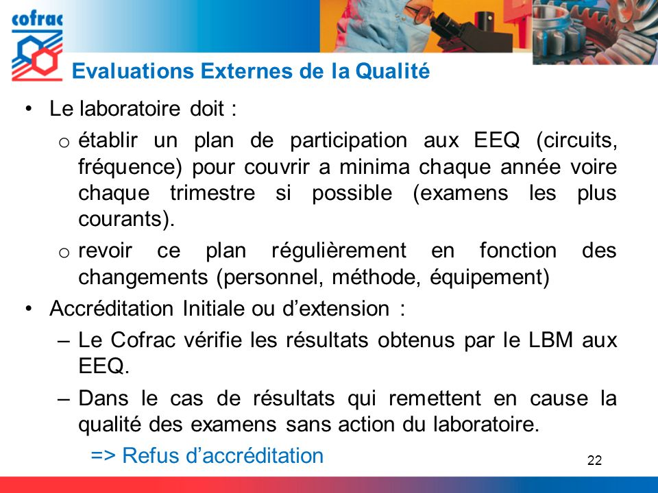 Evaluations Externes de la Qualité