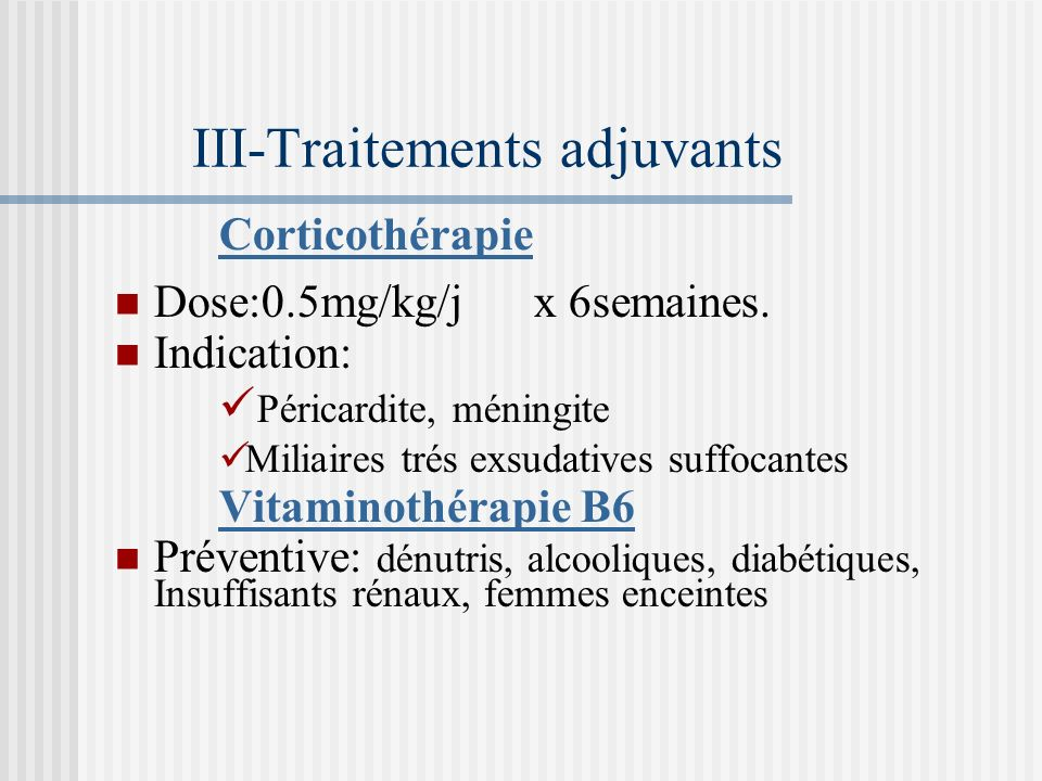 III-Traitements adjuvants
