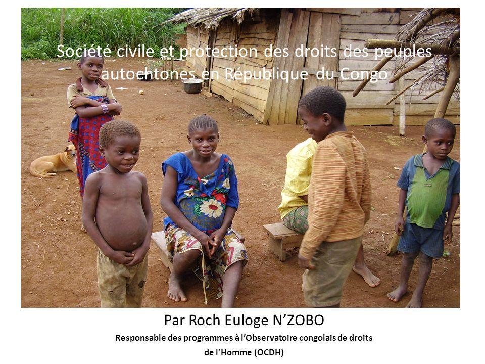 Responsable des programmes à l'Observatoire congolais de droits