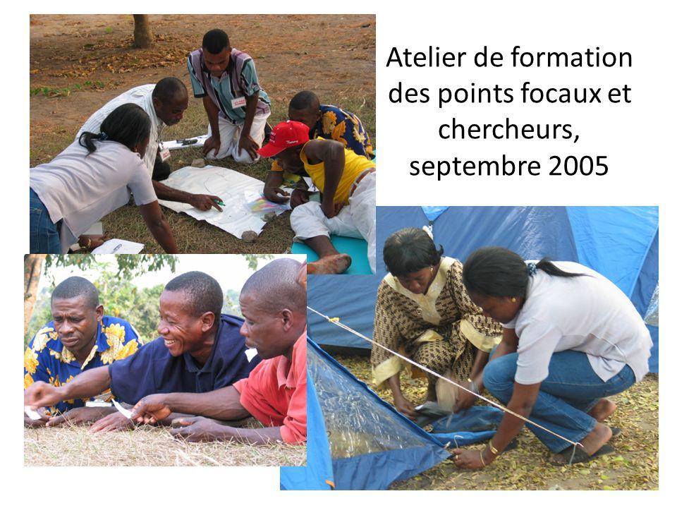 Atelier de formation des points focaux et chercheurs, septembre 2005