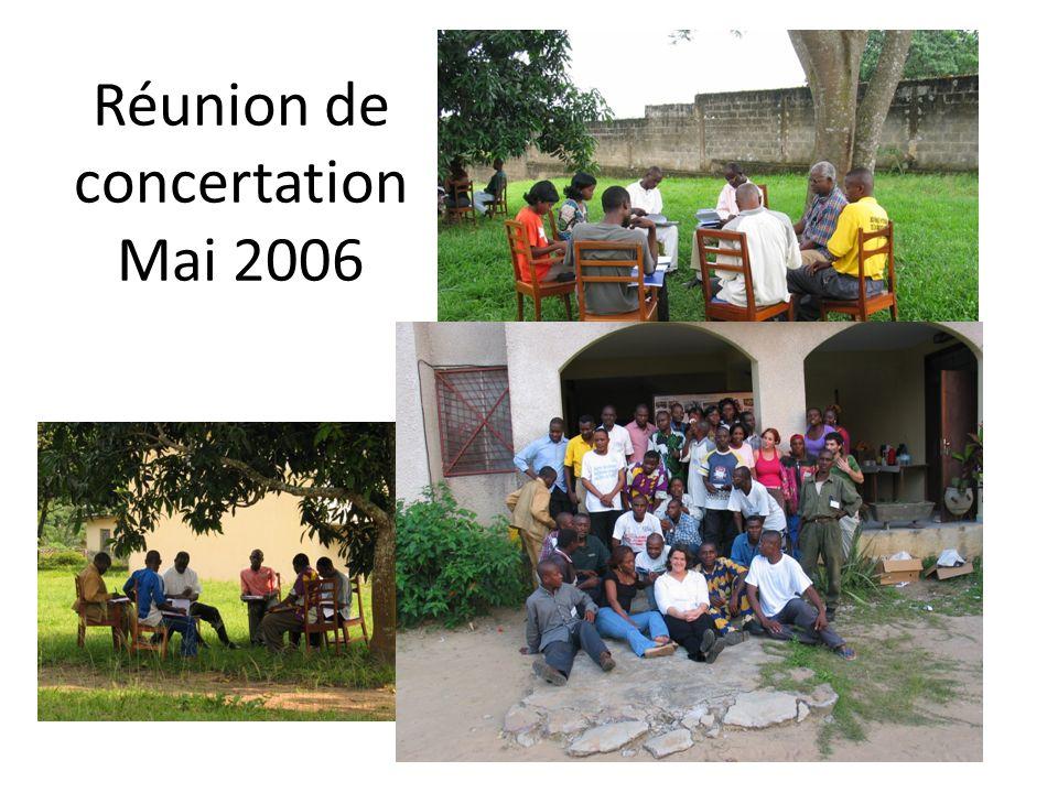 Réunion de concertationMai 2006