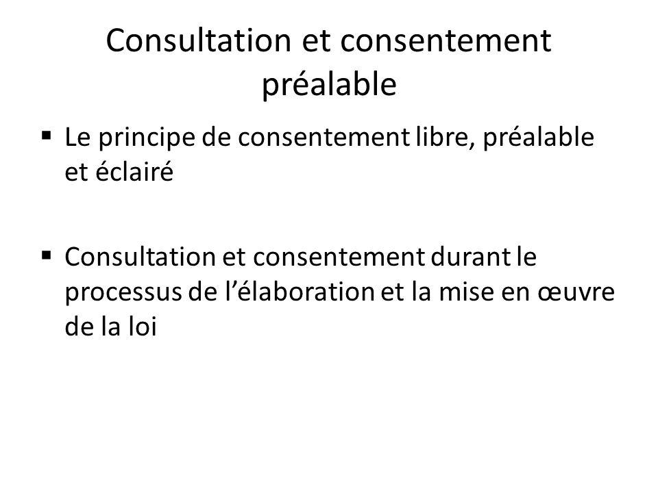 Consultation et consentement préalable