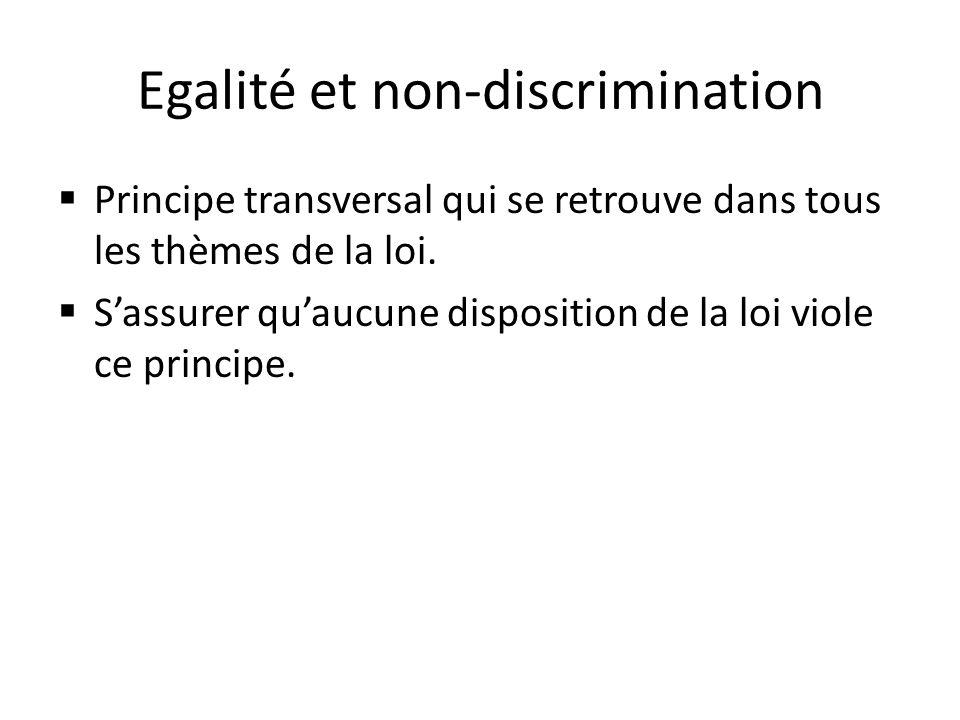 Egalité et non-discrimination