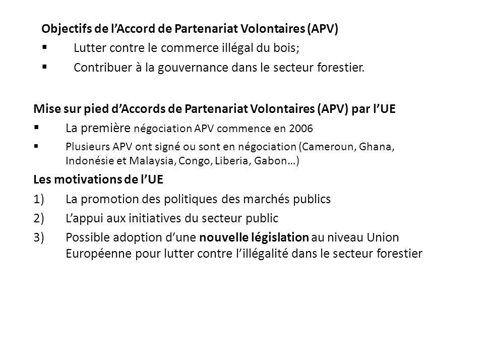 Objectifs de l'Accord de Partenariat Volontaires (APV)