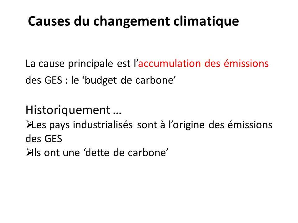 Causes du changement climatique