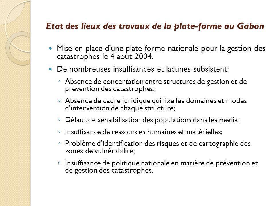 Etat des lieux des travaux de la plate-forme au Gabon
