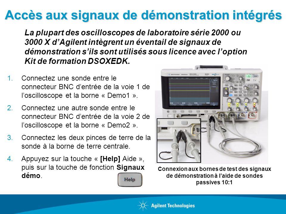 Accès aux signaux de démonstration intégrés