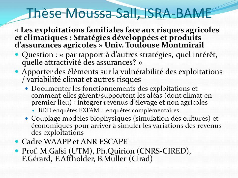 Thèse Moussa Sall, ISRA-BAME