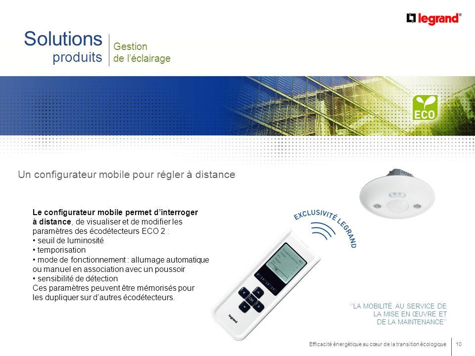 Solutions produits Un configurateur mobile pour régler à distance