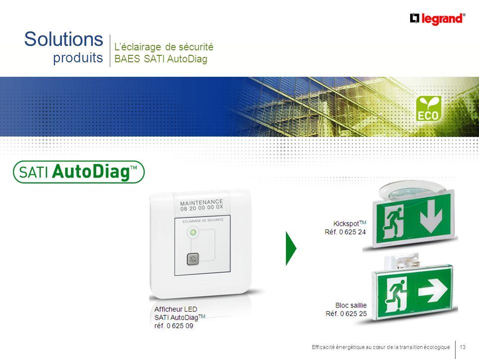 Solutions produits L'éclairage de sécurité BAES SATI AutoDiag