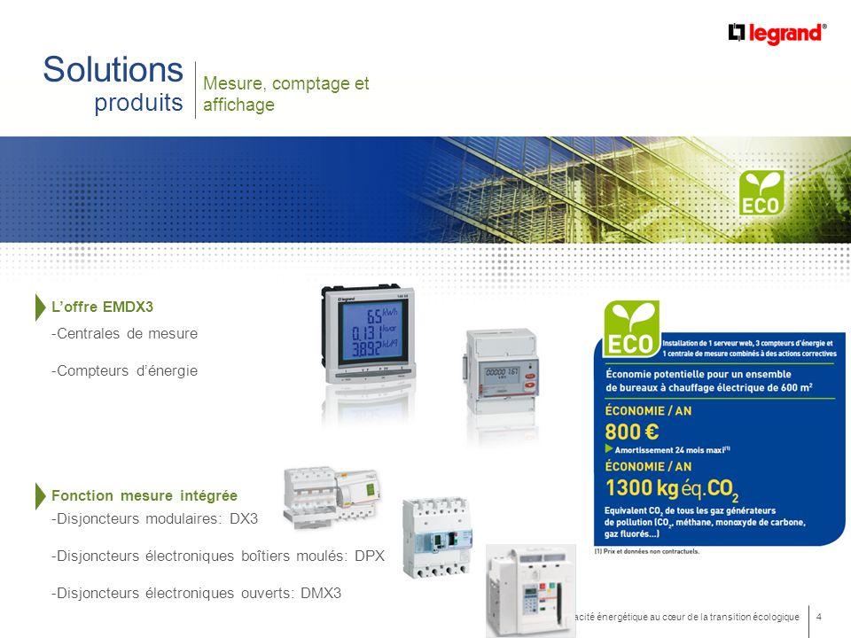 Solutions produits Mesure, comptage et affichage L'offre EMDX3