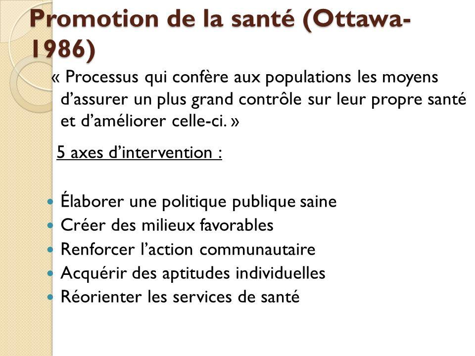 Promotion de la santé (Ottawa-1986)