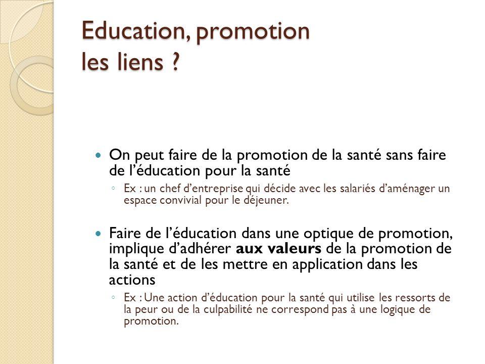 Education, promotion les liens