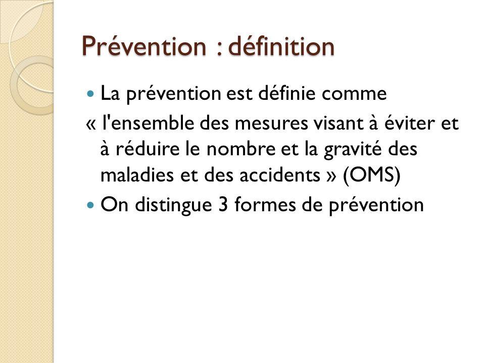 Prévention : définition
