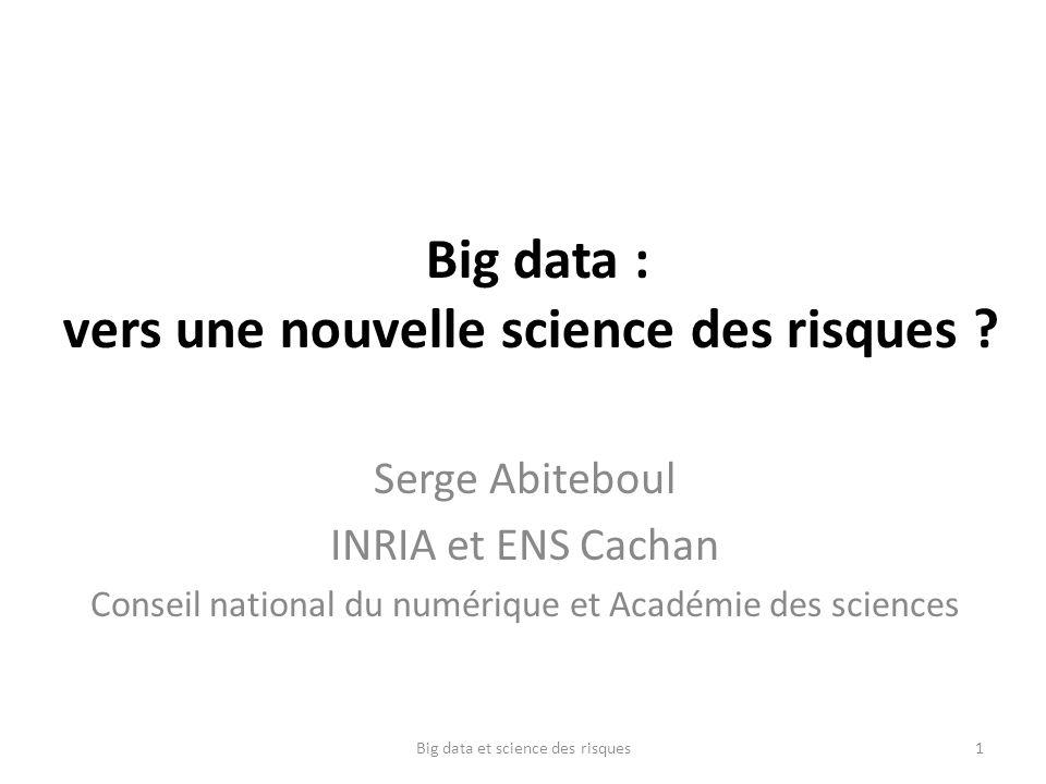 Big data : vers une nouvelle science des risques