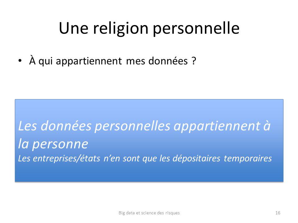 Une religion personnelle