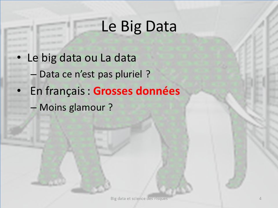 Big data et science des risques