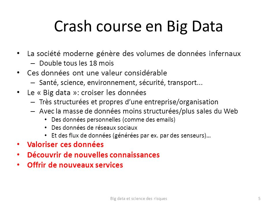 Crash course en Big Data