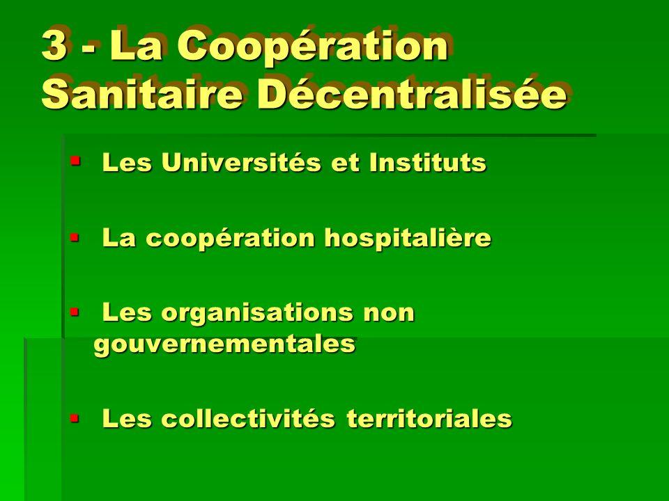 3 - La Coopération Sanitaire Décentralisée
