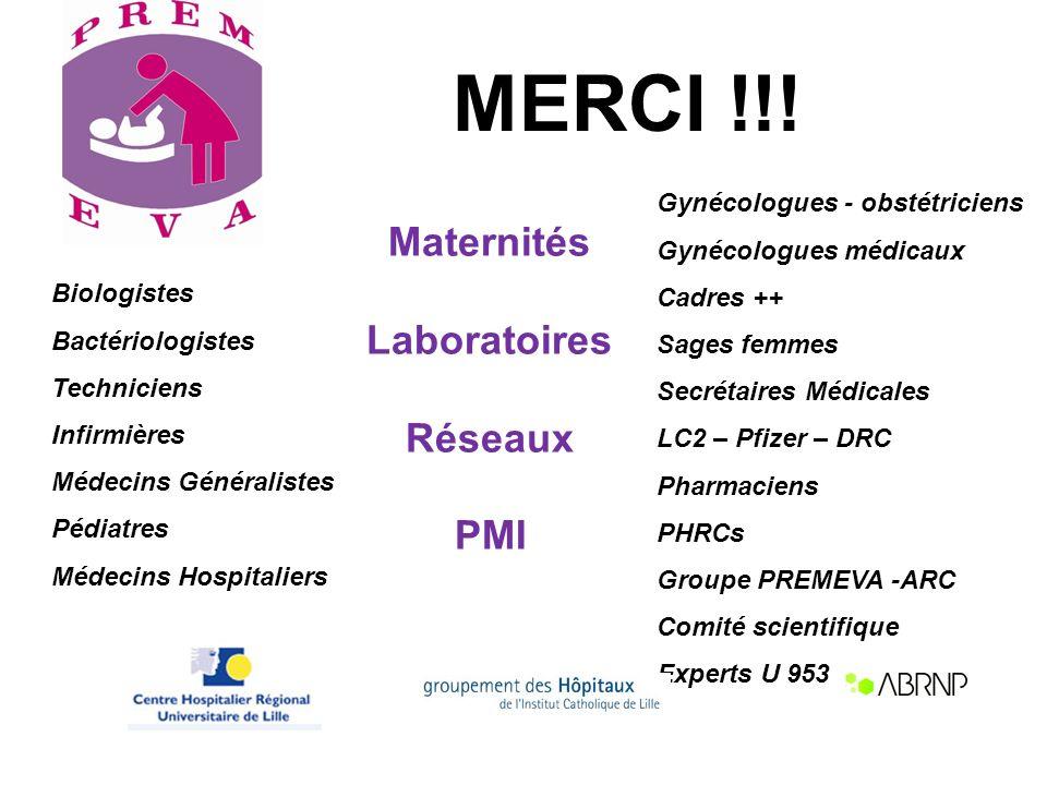MERCI !!! Maternités Laboratoires Réseaux PMI