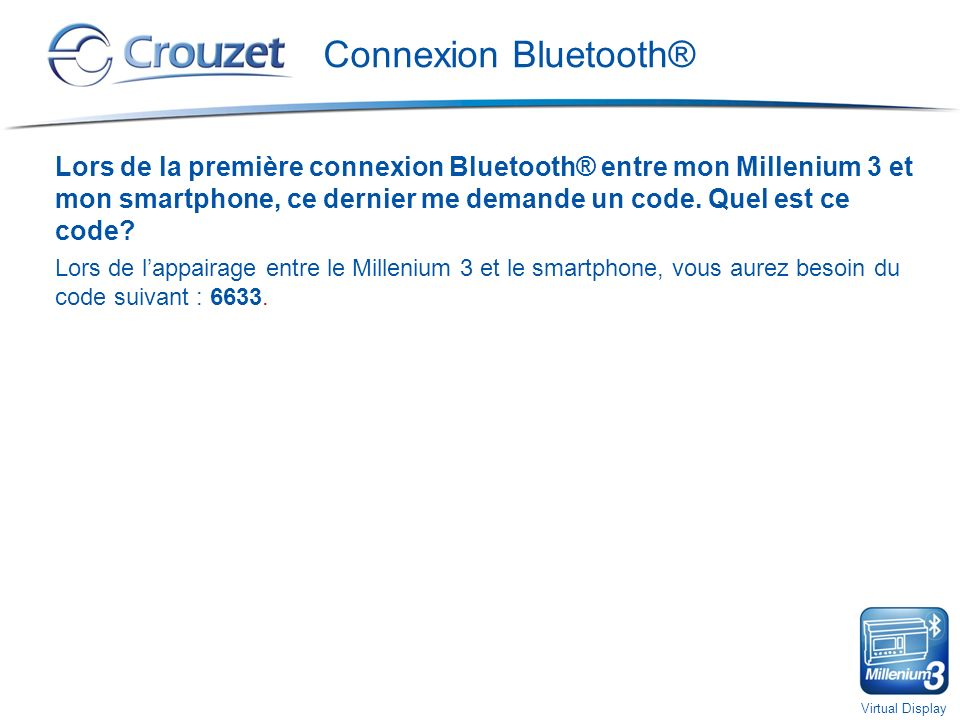 Connexion Bluetooth®