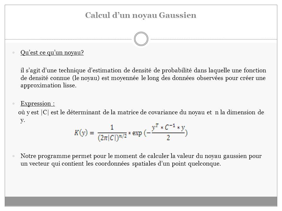 Calcul d'un noyau Gaussien