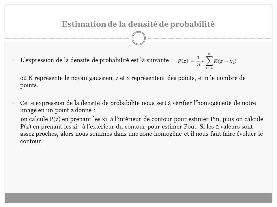 Estimation de la densité de probabilité