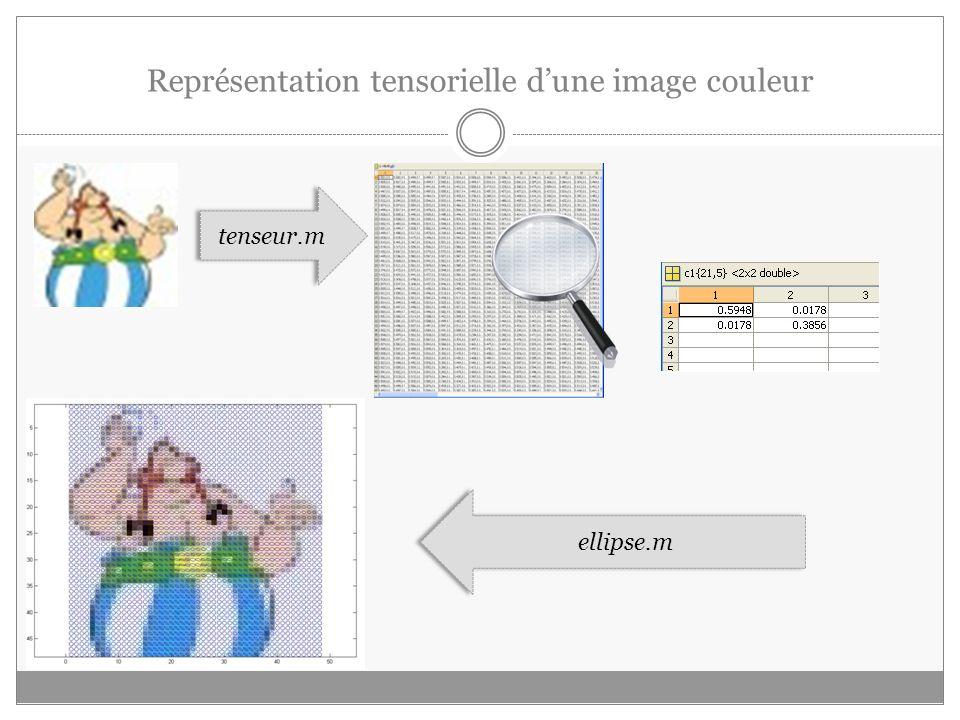 Représentation tensorielle d'une image couleur