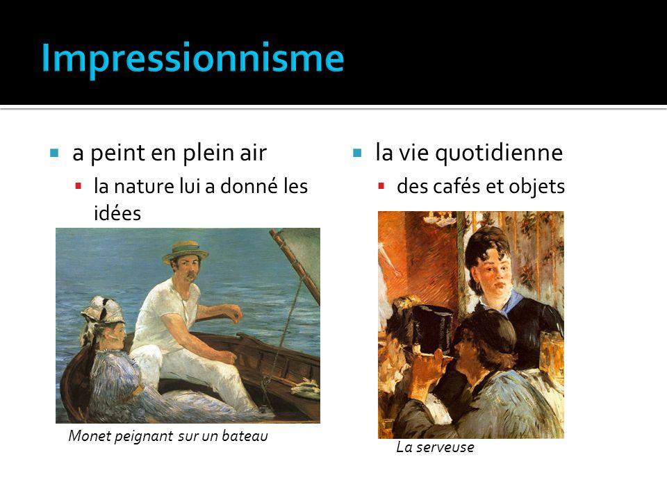 Impressionnisme a peint en plein air la vie quotidienne