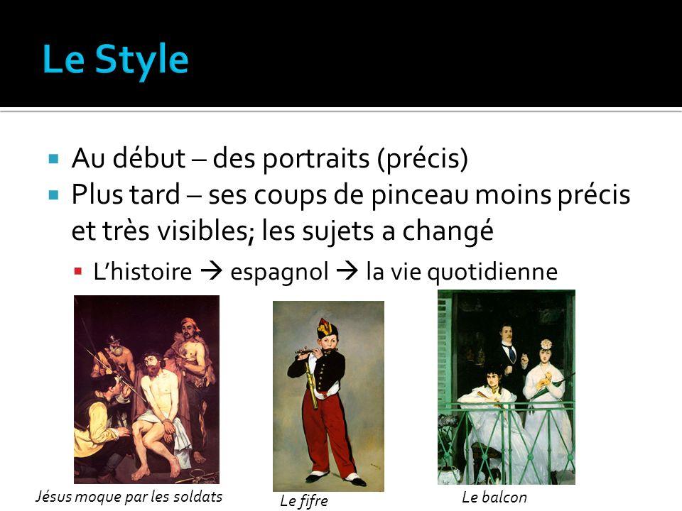 Le Style Au début – des portraits (précis)