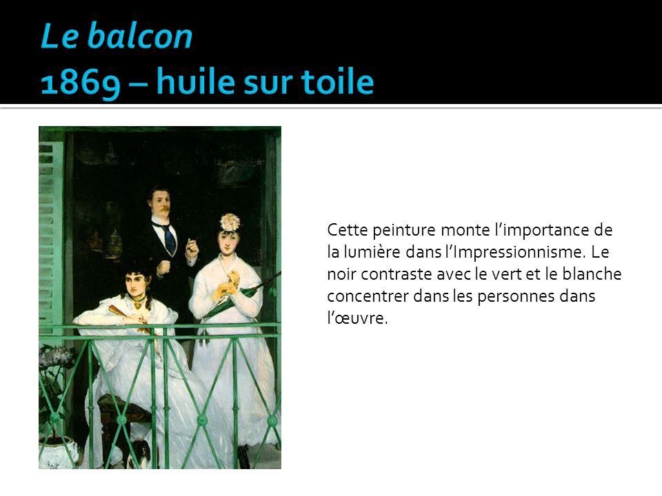 Le balcon 1869 – huile sur toile