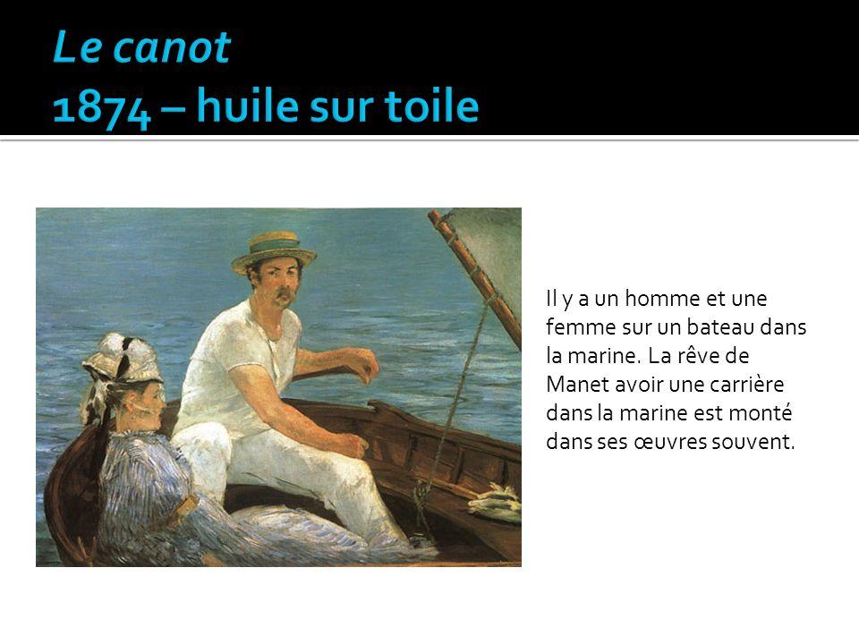 Le canot 1874 – huile sur toile