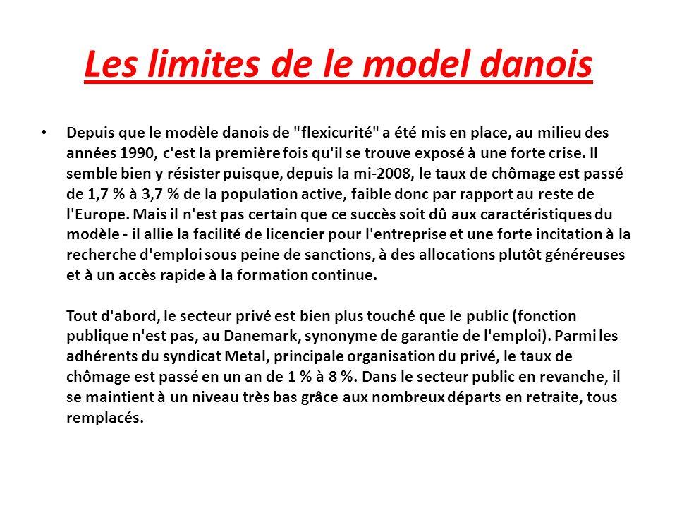 Les limites de le model danois