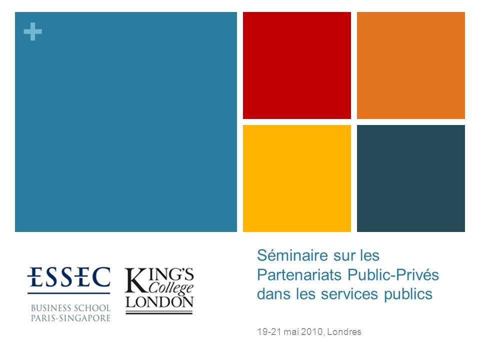 Séminaire sur les Partenariats Public-Privés dans les services publics