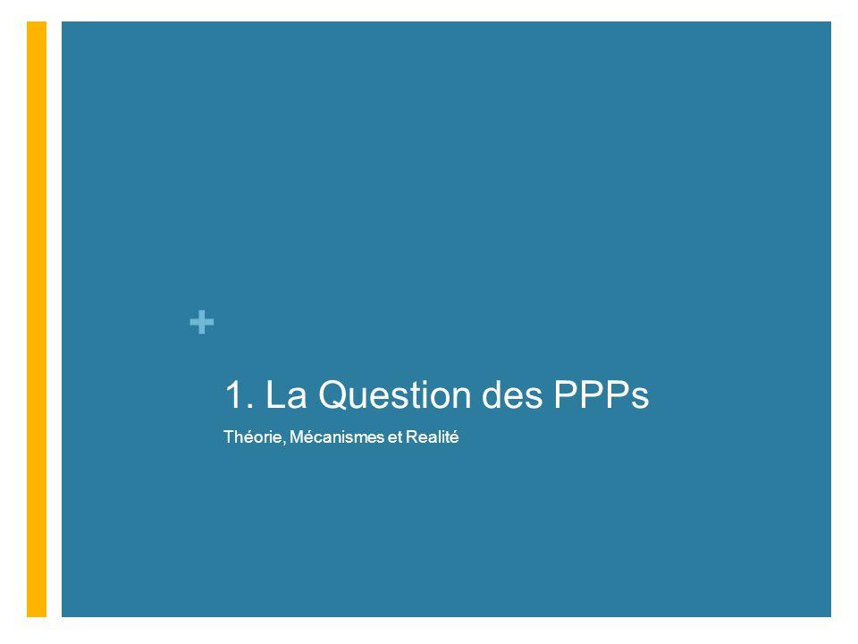 1. La Question des PPPs Théorie, Mécanismes et Realité