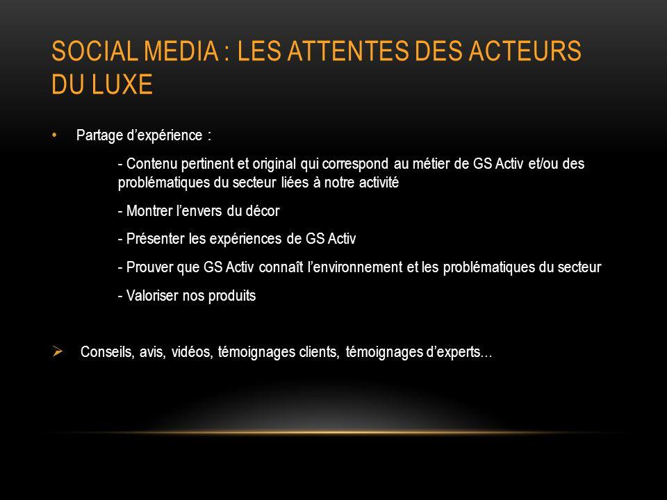 Social media : les attentes des acteurs du luxe