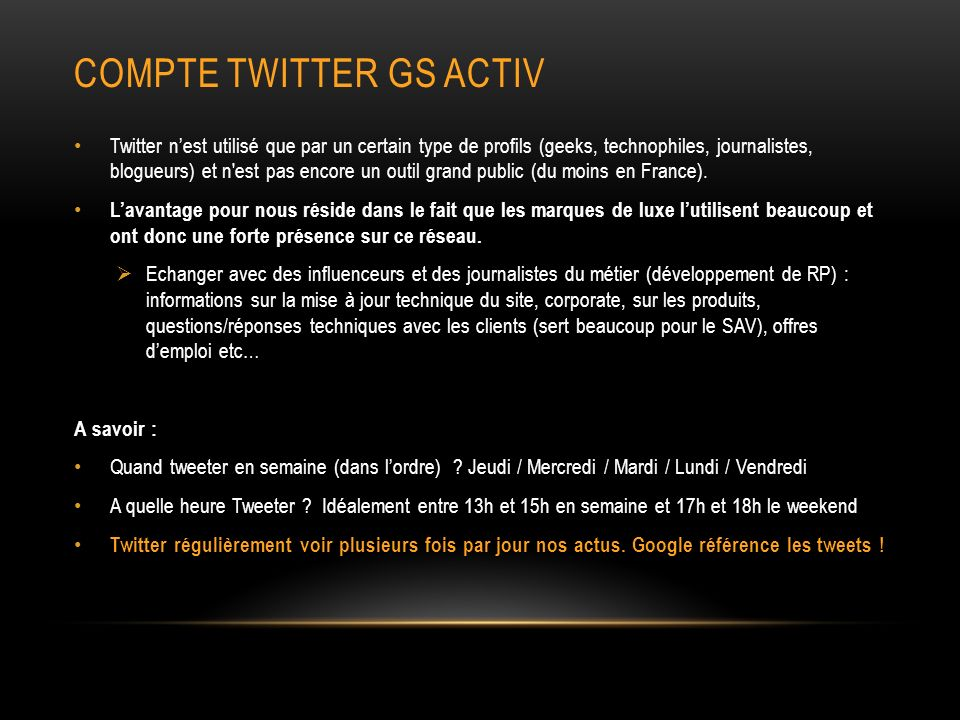 Compte twitter gs activ