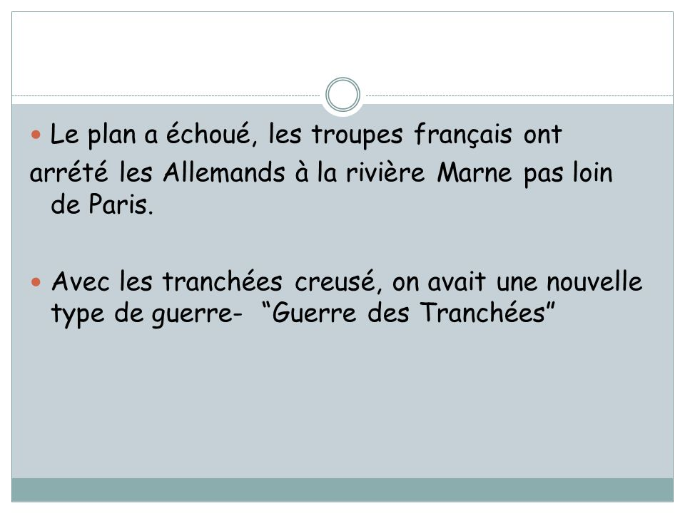 Le plan a échoué, les troupes français ont