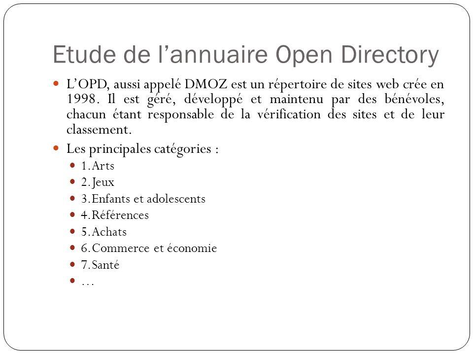 Etude de l'annuaire Open Directory