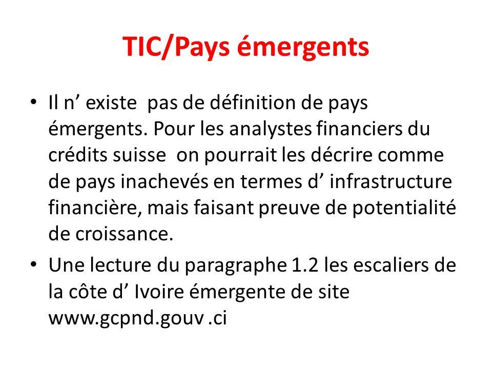 TIC/Pays émergents