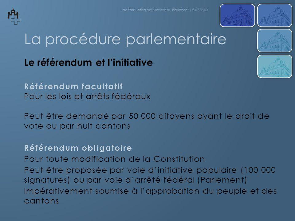 La procédure parlementaire