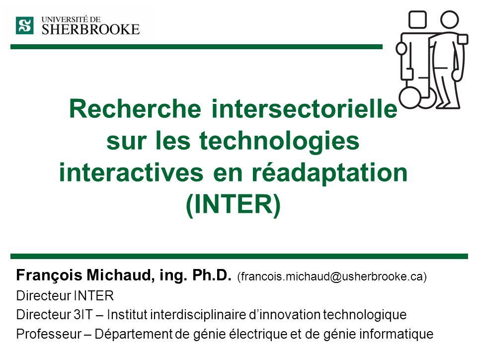 Recherche intersectorielle sur les technologies interactives en réadaptation (INTER)