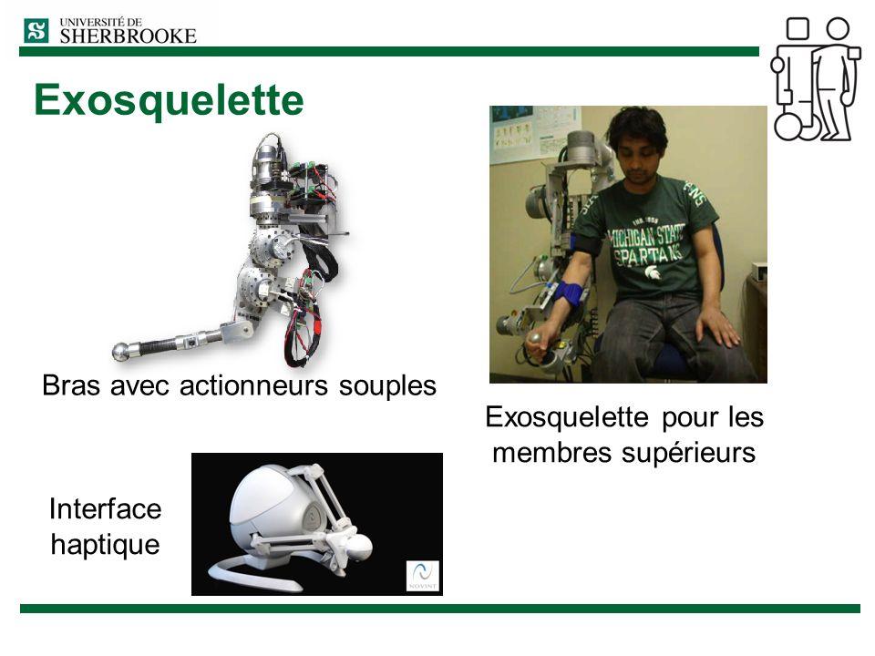 Exosquelette Bras avec actionneurs souples