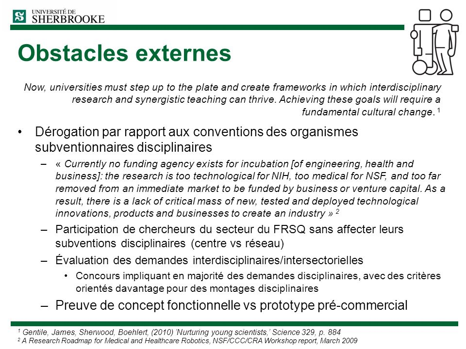Obstacles externes